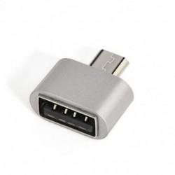 Ezüst 1PCS Micro USB 2.0 női USB-hez 3.1 C típusú férfi átalakító USB-C OTG adapter