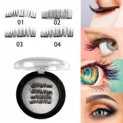 1 pár Ultra-vékony 3D mágneses műszempilla Természetes hatású smink kozmetikai bui kiegészítő