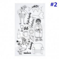 2 * Szilikon tiszta gumi bélyegzők tömítés DIY Scrapbooking album kártya dekoráció napló Craft