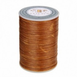 Kávé 90 m-es viaszos szál 0,8 mm-es poliészter kábel varrással varrott bőr kézműves karkötő