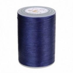 Kék 90 m-es viaszos szál 0,8 mm-es poliészter kábel varrással varrott bőr kézműves karkötő