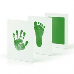 Zöld Baby Newborn Imprint Handprint Footprint Clean Touch tintapatron fotókeret készlet Hot