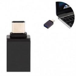 Fekete OTG USB 3.1 Adatszinkron töltőadapter átalakító C típusú férfi és USB 3.0 nő Új