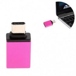 Rózsaszín OTG USB 3.1 Adatszinkron töltőadapter átalakító C típusú férfi és USB 3.0 nő Új
