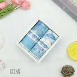 * 1 Óceán 10 Rolls papír Washi szalag dekoratív Scrapbooking ragasztó matrica kézműves ajándék