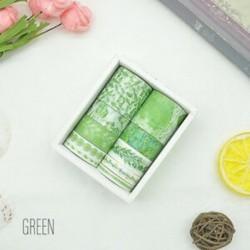 * 3 Zöld 10 Rolls papír Washi szalag dekoratív Scrapbooking ragasztó matrica kézműves ajándék