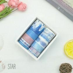 10 tekercs Égbolt - Csillag mintás színes Washi dekor szalag - dekoratív öntapadós szalag - 7