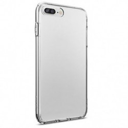 IPhone 7 Plus esetén Tiszta, puha TPU karcsú védő hátsó bőr tok iPhone 6 7 8 Plus X-hez