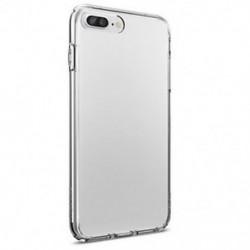 IPhone 8 Plus esetén Tiszta, puha TPU karcsú védő hátsó bőr tok iPhone 6 7 8 Plus X-hez