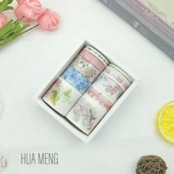 * 2 HUA MUNG 10 Rolls Paper Washi szalag dekoratív Scrapbooking ragasztó matrica kézműves eszköz