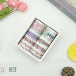 * 5 Rose 10 Rolls Paper Washi szalag dekoratív Scrapbooking ragasztó matrica kézműves eszköz