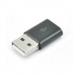 Fekete 1db Micro USB-hím USB 2.0-ás férfi konverteradapter a mobil telefonhoz