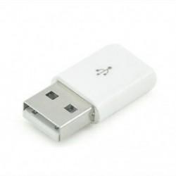 fehér 1db Micro USB-hím USB 2.0-ás férfi konverteradapter a mobil telefonhoz