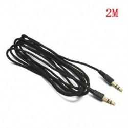 2M Fekete 3,5 mm-es AUX kiegészítő kiegészítő sztereó kábel férfi-férfi hangkábel MP3 autó számítógéphez