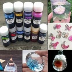 10 palack 10g epoxi UV gyanta festék színezék DIY gyanta pigment vegyes színű kézműves