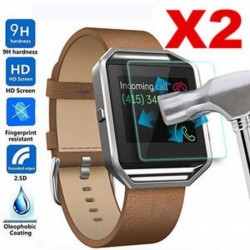 2Pc valódi prémium edzett üveg képernyővédő a Fitbit Blaze Smart Watchhez