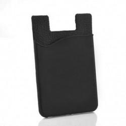 Fekete Puha gumi ragasztó matrica hátlap kártyatartó kártyatartó mobiltelefonhoz