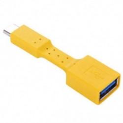 Sárga USB-C 3.1 C típusú férfi és USB 3.0 szinkron adapter adapter kábel OTG adat töltő töltése