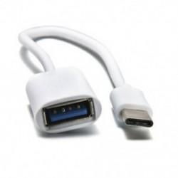 fehér OTG kábeles adapter USB 3.1 C-típusú férfi USB 3.0 A női átalakító kábel