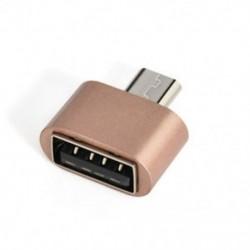 Rózsa arany Micro USB 2.0 női USB-hez 3.1 C típusú férfi átalakító USB-C OTG 3. adapter
