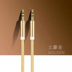 Arany 1M / 3ft kiváló minőségű AUX kábel 3,5 mm-es férfi-férfi kábel autós AUX / fejhallgató / MP3-hoz