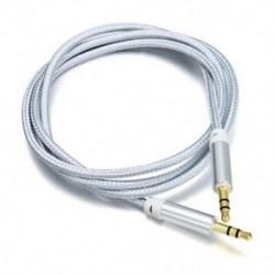 Ezüst 1M / 3ft kiváló minőségű AUX kábel 3,5 mm-es férfi-férfi kábel autós AUX / fejhallgató / MP3-hoz