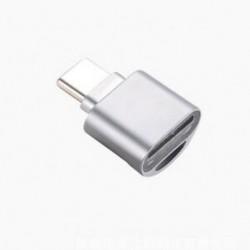 Ezüst USB 3.1 típus C Micro SD TF kártyaolvasó OTG adapter Alloy for Universal Samsung