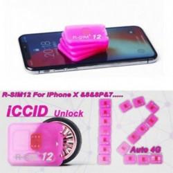 2db R-SIM 12 iPhoneX / 8 / 8p / 7 / 7p / 6s / 6sp / 6p 4G Nano feloldó kártyához ISO 12.2 10.x