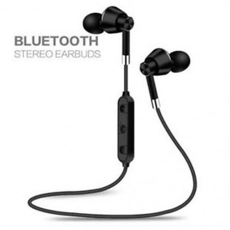 Fekete Sweatproof fejhallgató Vezeték nélküli Bluetooth Sport fejhallgató sztereó fülhallgató mikrofonnal