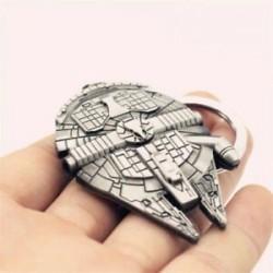 * 23 Star Wars Millennium Falco ... Hordozható kreatív ötvözet fém kulcstartó autó kulcstartó Unisex kulcstartó