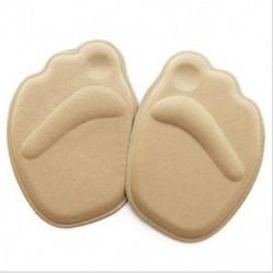 Khaki Puha talpú magas sarkú lábfejpárnák Elülső csúszásgátló talpbetét cipő lélegző