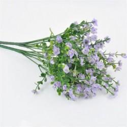 * 11 Világos lila Virág csokor mesterséges selyem rózsa virág menyasszonyi esküvői fél váza dekoráció