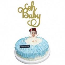 1db Oh Baby Kreatív Cake Topper gyertya &quot Boldog születésnapot&quot  10.-60th Party kellékek dekoráció