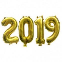 * 9 2019 (Arany) 10X 2019 Boldog új évet Latex léggömb karácsonyi születésnapi esküvői party dekoráció