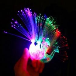5db 5 / 10Pc Peacock Light Up ujj gyűrű lézer LED izzó sötét pálca gyerekek fél játékok