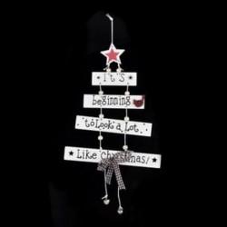 1db 17x27cm-es 2019-es Karácsonyi ajtódísz - Ünnepi dísz - Karácsonyi dekoráció