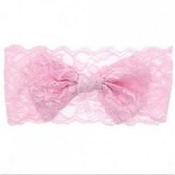Rózsaszín 7PCS Baby Girls Kids csipke íj fejpánt Hairband Stretch Head Band kiegészítők