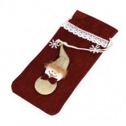 * 8 Santa nadrág karácsonyi Candy táskák Bor harisnya üveg ajándék táska Xmas dekoráció