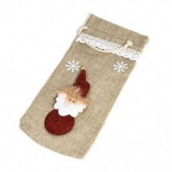 * 9 Santa nadrág karácsonyi Candy táskák Bor harisnya üveg ajándék táska Xmas dekoráció