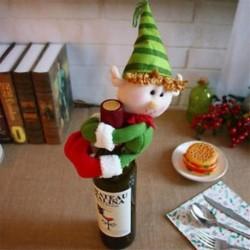 * 17 Elf Santa nadrág karácsonyi Candy táskák Bor harisnya üveg ajándék táska Xmas dekoráció