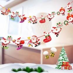 1db 2m hosszú Karácsonyi függő dekoráció - girland - Többféle Mikulás mintával - 7