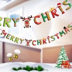 1db 2m hosszú Karácsonyi függő dekoráció - girland - Boldog Karácsonyt feliratos - Rénszarvas mintás - 7