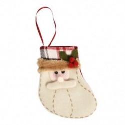 1db 10x12cm-es Felakasztható Karácsonyi zokni - Mikulás mintás - Karácsonyi dekoráció - 8