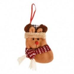 1db 10x12cm-es Felakasztható Karácsonyi zokni - Rénszarvas mintás - Karácsonyi dekoráció - 8