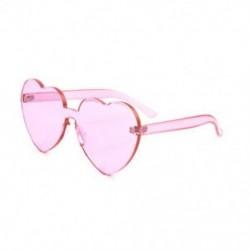 Rózsaszín Nagy túlméretezett női Lolita szív alakú napszemüveg divat aranyos szerelem szemüveg