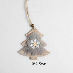 1db 90x95mm Karácsonyfa alakú fa dísz - Karácsonyi dekoráció - 20