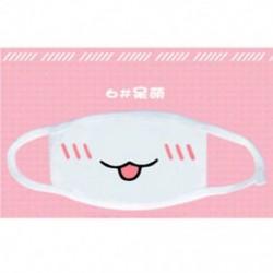3 * Unisex aranyos anime érzelem száj-muffle Kaomoji porvédő arcmaszk Kawaii Új