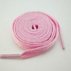 Rózsaszín 1 pár lapos színes cipőfűző húrok lapos sportos csizma sport cipőfűzők 130cm