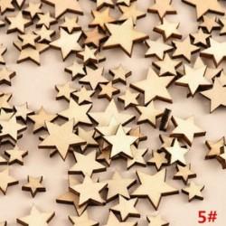 *5 csillag 100db rusztikus, fából készült szerelem szívcsillag esküvői asztal szétszóródás dekoráció kézműves