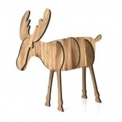Nagy tölgy színű Fa karácsonyi elk szarvas díszek Xmas fa függő dekoráció dísz medál legjobb ajándék